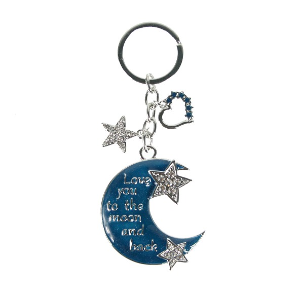 Moon   Star Love You to the Moon Keyring - Elegant Extras 1979cae39