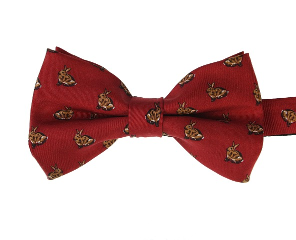 9017698d29f1 Pre-tied Red Bunny Rabbit Bow Tie (Limited Edition)