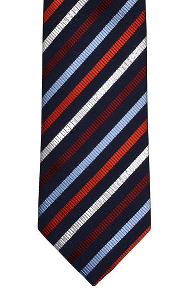 913e55dddc31 Navy Striped Tie - Navy Striped Necktie - Elegant Extras