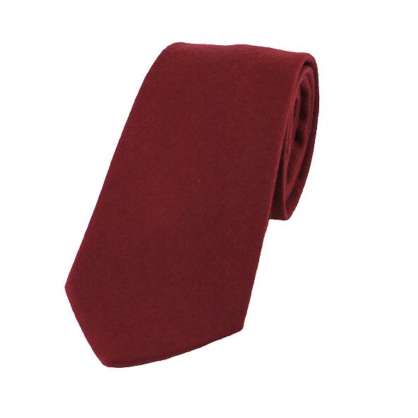 1b3d9d7e0621 Plain Burgundy Wool Tie - Elegant Extras