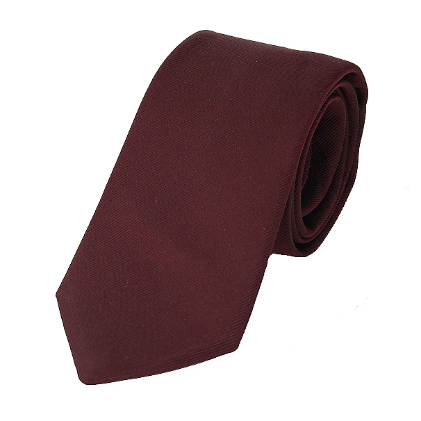 dd759dbaa05e Silk Reppe Dark Burgundy Tie - Elegant Extras
